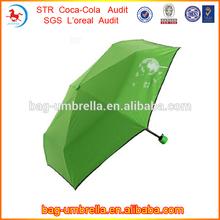OEM And ODM 21inchx8k Three Fold Manual Open Advertisement Print Logo Green UV Protect Umbrella