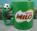 China fornecedor nestle verde cerâmica caneca de café com único punho