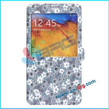 BRG- New side opening leather flip covers for samsung galaxy note 3