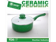 Aluminum ceramic marble coating milk cooking pot