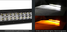 """Dual Color Amber White Light Bar 21.5"""" 120W Combo With Wiring Relay SUV Fog Lamp"""