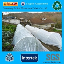 Spunbond nonwoven row cover for crop protection