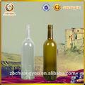 venta al por mayor nueva de calidad del hight 750ml de corcho superior de color verde oscuro de envases de vidrio para el vino
