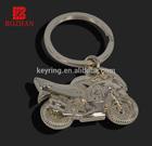 Motorcycle shape keychain blank keyring metal keychain