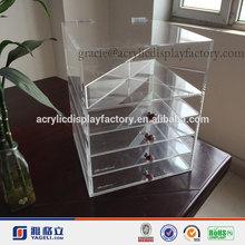 La venta caliente!!! La costumbre de la fábrica de acrílico transparente de esmalte de uñas opi organizador de cosméticos