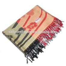 2014 latest fashion lady's big shawl Handmade print cashmere scarf
