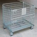 Pliage et l'empilage heavy duty métal empilage des bacs, conteneurs en treillis métallique