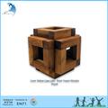 Tampa deslizante gaiola cube- cérebro teaser do cubo de madeira brinquedo de quebra-cabeça