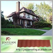 waterproof colorful corrugated natural stone coated metal wood shingle roof