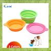G-2014 Foldable Multicolor Printing Melamine Pet Travel Bowl