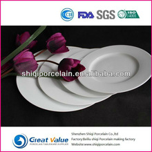 high class round white antique porcelain plates