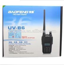 2014 New 5w output portable handheld BAOFENG UV-B6 two way radio walkie talkie FM radio reception