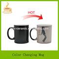 sexy dança da senhora cerâmica sensível ao calor de sublimação canecas mudança da cor
