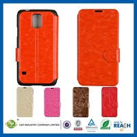 New Arrival Beautiful Design leather flip case with belt clip for samsung s5
