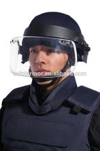 Ballistic protective bulletproof face shield/helmet visor/bulletproof shield for sale