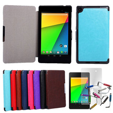 """For Google Nexus 7 2nd Gen 7"""" 7inch Slim Magnetic PU Leather Case Smart Cover + Film + Stylus"""
