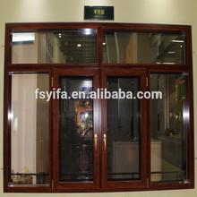 YiFa brand lastest design general thermal break aluminum double glazed pane window