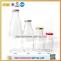 New glass coconut milk bottle lid sale 1 liter