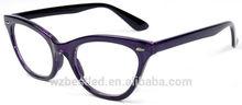 Cat eye plastic reading glasses owl eye