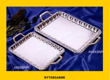 antique metal serving trays
