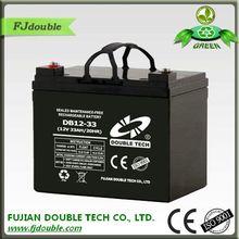 ISO9001 maintenance free ups lead acid battery 12v 33ah made in china
