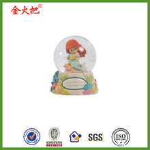 Fashion toy animated mermaid baby snow domes for wedding