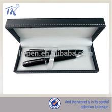 Luxury Black Metal Ball Pen And Roller Pen Set