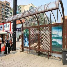 customized aluminum/ stainless steel bus shelter
