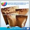 FDA Grade airtight long self-life kraft paper food packaging bags