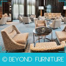 Fabric Upholstery Hotel Lobby Sofa Set