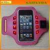 Fashion LED Safety sport armband case for samsung galaxy waterproof armband for samsung galaxy s4