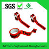 Dongguan factory bopp printed packing tape red base with logo