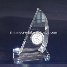2014 new design glass crystal wall clock