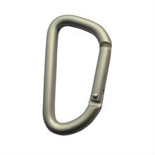 D shape aluminum climbing carabiner