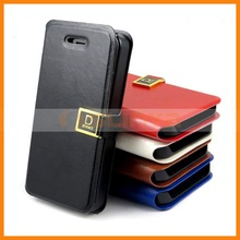 With Credit Card Slots Wallet Case For iPhone 4 4S Stand Leather Case