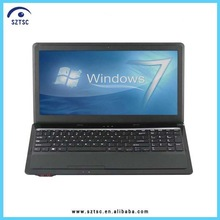 Hot!!! Windows 7 OS 15.6 Inch TFT Screen Intel Atom Dual Core Laptop Wholesale
