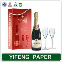 high quality custom cardboard rigid gift box for wine glasses