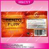 Benzo Fury herbal incense plastic packaging bag with small ziplock/Custom design aluminum foil zipper bag