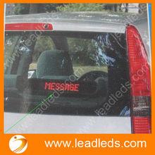 with remote control alibaba express high brightness dot matrix 7X50pixels 12v led car display