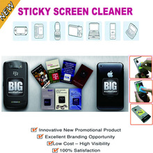 Microfiber silicone sticky mobile screen cleaner