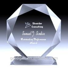 La alta calidad del diamante en forma de K9 Crystal placa del premio y trofeos