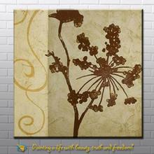 handmade wall art flower acrylic painting from xiamen factory