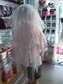 جديد arrvial ذيل طويل فستان زفاف الحجاب اليدوية الصورة الحقيقية