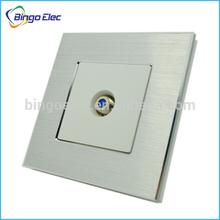 metal aluminum wall TV satellite socket