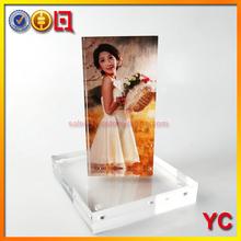 pop acrylic double sided magnetic frame/acrylic photo frame/frame