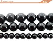 2014 Best sale quality products natural 10mm perfect round shape gemstone black onyx bead gemstone bracelet