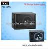 SPE audio 15inch mini subwoofer bar subs ktv audio subwoofer