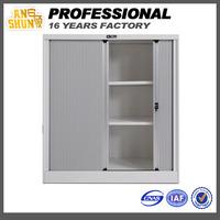 Adjustable 2 shelf filing cabinet rolling shutter,tambour door filing cabinet,rollers for metal file cabinet