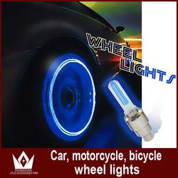 Bicycle wheel motorcycle 4 colors on sale LED Flash Tyre Wheel Valve Cap Light , car LED drl Wheel Light daytime running light