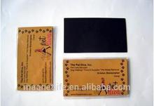Custom business card fridge magnet
